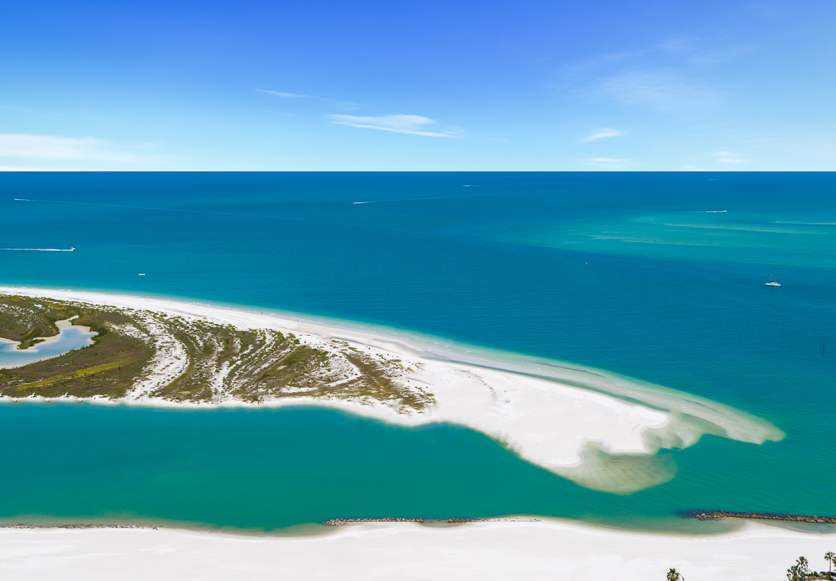 Hideaway Beach Aerial. Doug and Nicki Davis sell realty on marco island fl and specialize in Hideaway Beach and Cape Marco Real Estate.