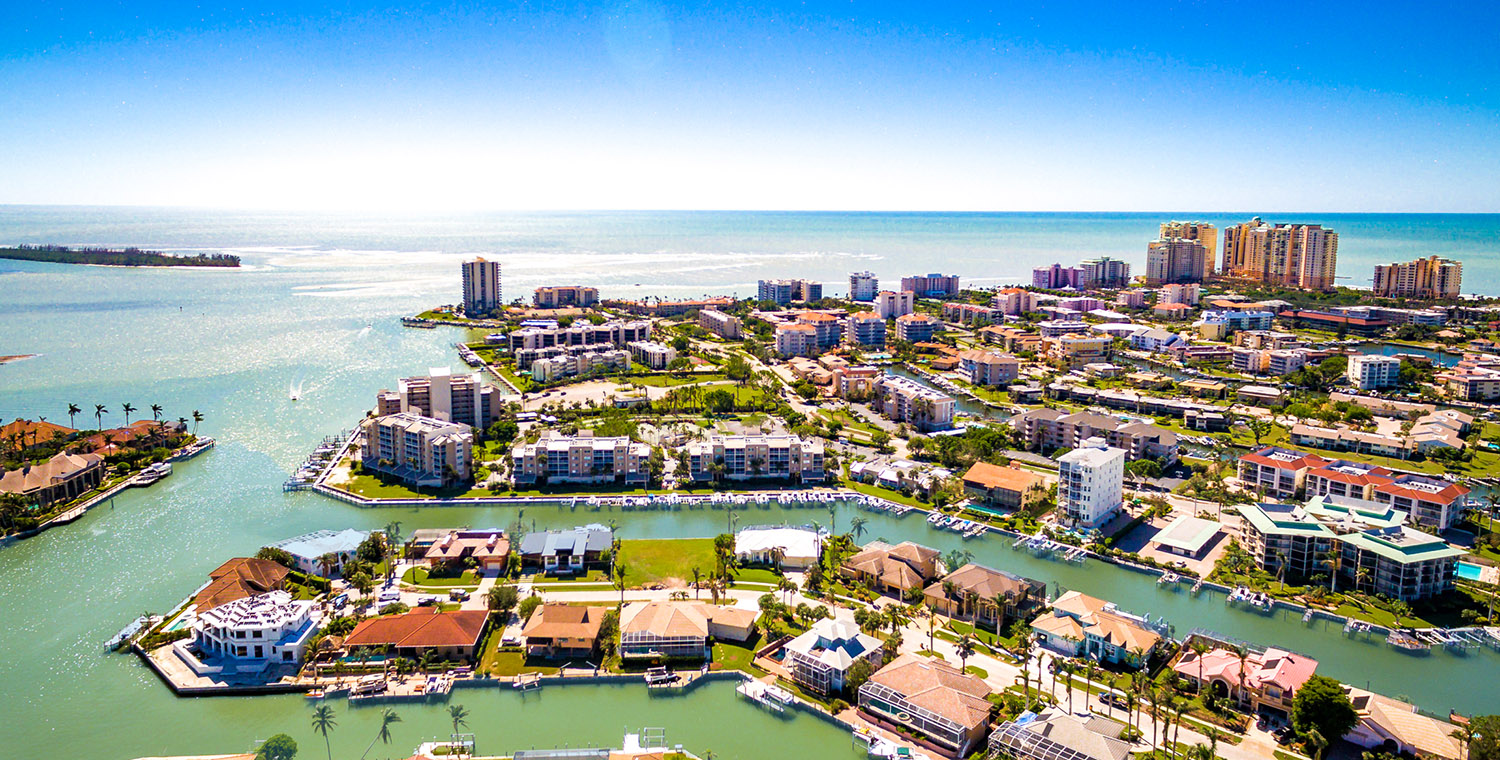 Doug and Nicki Davis show an aerial view of Marco Island Florida. Doug and Nicki Davis sell realty on marco island fl and specialize in Hideaway Beach and Cape Marco Real Estate.